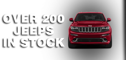 Over 200 jeeps in stock